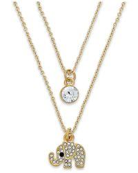 "ABS By Allen Schwartz | Metallic Elephant Necklace Set, 16"" | Lyst"