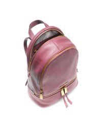 Michael Kors | Purple Rhea Small Leather Backpack | Lyst
