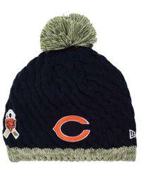 ... new zealand blue womens chicago bears salute to service knit hat d6d04  5bb8e ... a940f126e