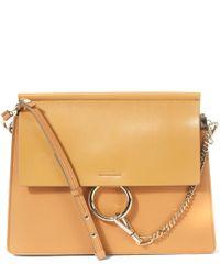 Chloé | Brown Faye Medium Leather Shoulder Bag | Lyst