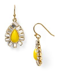 kate spade new york - Yellow Capri Garden French Wire Earrings - Lyst