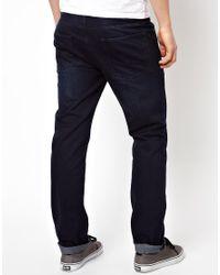 ASOS - Blue Straight Jeans for Men - Lyst