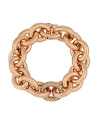 Eddie Borgo | Pink Rose Gold-Plated Crystal Chain-Link Bracelet | Lyst
