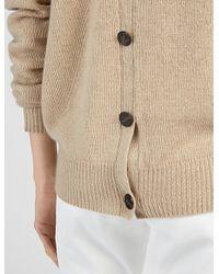 JOSEPH - Brown Spring Cashmere V Neck Cardigan Sweater - Lyst