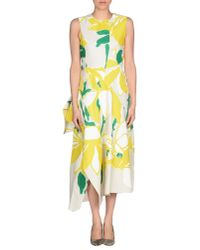 Marni - Natural 3/4 Length Dress - Lyst