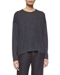 Eskandar - Black Long-sleeve Cashmere Sweater - Lyst