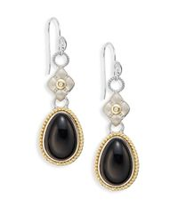 Jude Frances | Barcelona Black Onyx & Diamond Layered Drop Earrings | Lyst