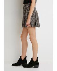 Forever 21 | Black Pleated Mosaic Print Skirt | Lyst