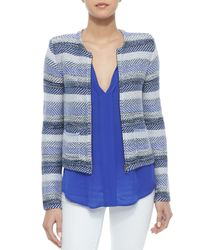 Joie | Blue Jacolyn B Striped Jacquard Jacket | Lyst