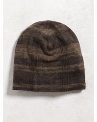John Varvatos | Brown Silk Cashmere Knit Hat for Men | Lyst