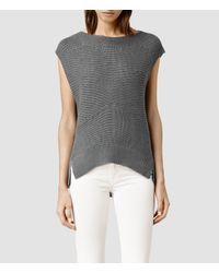 AllSaints | Metallic Melo Knit Top | Lyst