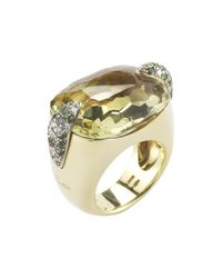 Pomellato - Metallic Pre-owned 18ky Peridot Ring - Lyst