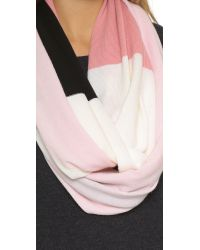 kate spade new york - Pink Large Colorblock Infinity Scarf - Lily Pad - Lyst