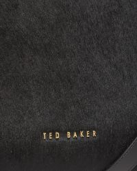 Ted Baker | Black Textured Leather Zip Tote Bag | Lyst