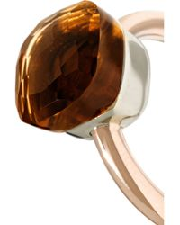 Pomellato - Metallic Nudo Classic 18-karat Rose Gold Quartz Ring - Lyst