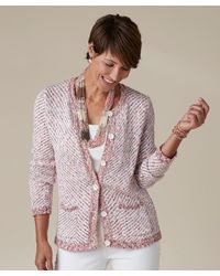 DAMART - Multicolor Knitted Jacket - Lyst