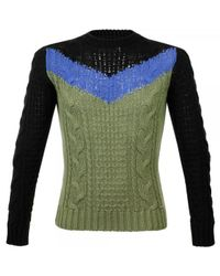 DIESEL | Green K-patton Cable Knit Jumper for Men | Lyst