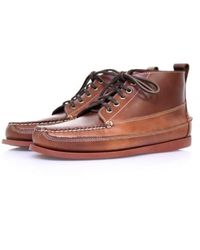 G.H. Bass & Co. | Bass Ranger Pull Up Mid Brown Leather Boots Bai2041 for Men | Lyst