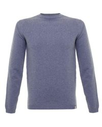 Norse Projects | Sigfred Colony Blue Lambswool Jumper for Men | Lyst