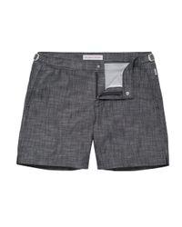 Orlebar Brown   Blue Bulldog Chambray Shorts 2647 for Men   Lyst