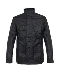 Barbour   Barbour Sl International Black Waxed Jacket for Men   Lyst