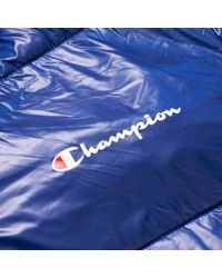 Champion Blue Padded Hooded Jacket for men