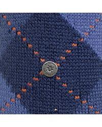 Burlington Socks - Burlignton Preston Argyle Blue Socks 24284 for Men - Lyst