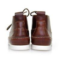 G.H.BASS - Rangel Pull Up Dark Brown Shoes for Men - Lyst