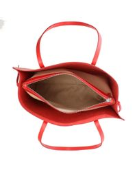 Daniel - Shore Red Leather Unlined Tote Bag - Lyst