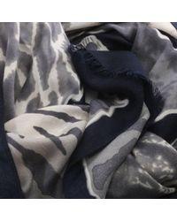 Daniel - Blue Navy Animal Print Scarf - Lyst