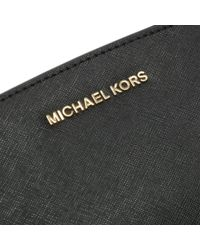 Michael Kors - Mini Selma Black Messenger Crossbody Bag - Lyst