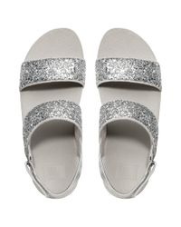 Fitflop - Metallic Glitterball Silver Ankle Strap Sandals - Lyst