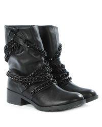 Daniel - Black Respectful Chain Biker Boots - Lyst