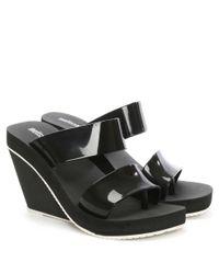 Melissa - Summer High Black Rubber Wedge Sandal - Lyst
