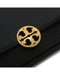 Tory Burch - Black Chelsea Convertible Gold Leather Clutch Bag - Lyst
