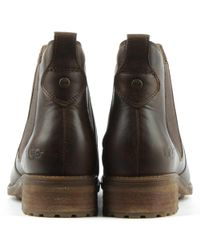 Ugg - Brown Bonham Stout Leather Chelsea Boot - Lyst