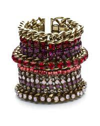 DANNIJO | Multicolor Tate Bracelet In Pink | Lyst