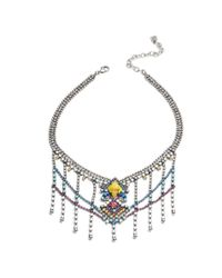DANNIJO | Metallic Cubana Necklace | Lyst