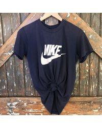 DANNIJO - Blue Vintage Nike Navy Tee for Men - Lyst