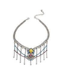 DANNIJO - Metallic Cubana Necklace - Lyst