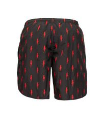 Neil Barrett - Black 'lightening Bolt' Swim Shorts for Men - Lyst