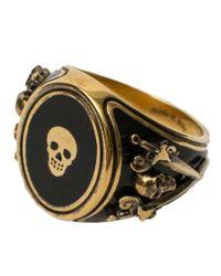 Alexander McQueen | Multicolor 'signet Skull' Ring for Men | Lyst