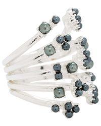 Lulu Frost - Metallic Jackie Ring Grey - Lyst