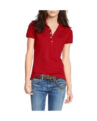 Polo Ralph Lauren - Red Skinny-fit Stretch Polo Shirt - Lyst