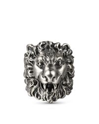 Gucci | Multicolor Lion Head Ring | Lyst