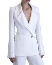 Carla Zampatti | White Crepe Tailored For Her Jacket | Lyst