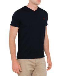 Polo Ralph Lauren - Black Medium Fit V-neck T Shirt for Men - Lyst