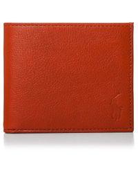 Polo Ralph Lauren | Brown Pebble Leather 8cc Billfold for Men | Lyst