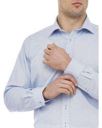 Geoffrey Beene | Blue Coe Dot Print Shirt for Men | Lyst