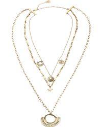 Camilla - Metallic Layered Chain Necklace - Lyst